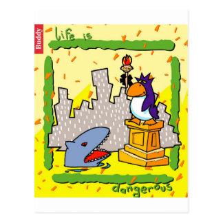 Das Leben ist gefährlich Postkarte