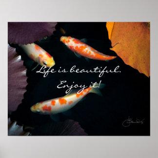 Das Leben ist genießen es schön Poster