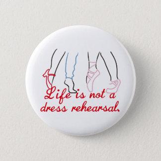 Das Leben ist nicht eine KleiderProbe Runder Button 5,1 Cm