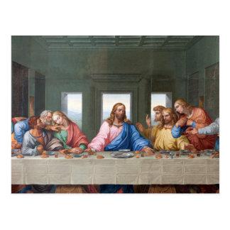 Das letzte Abendessen durch Leonardo da Vinci Postkarte