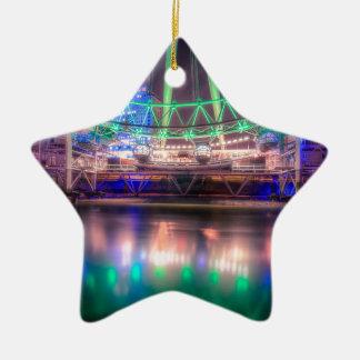 Das London-Auge an St Patrick Tag Keramik Stern-Ornament