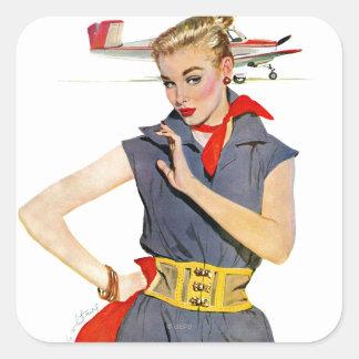Das Mädchen, das Flugzeuge stahl Aufkleber