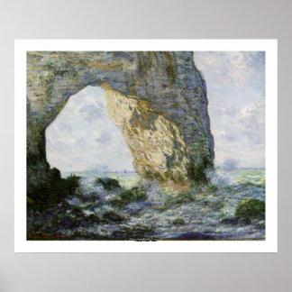 Das Manneporte durch Claude Monet Poster