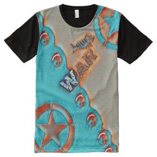 Das meiste populäre Fisch-Krieg der Sterne Yin T-Shirt Mit Bedruckbarer Vorderseite