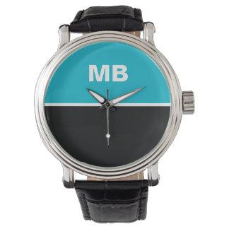 Das moderne Monogramm der Geschäftsleute Uhr