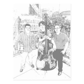 Das moderner Jazz-Trio Postkarte