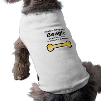 Das Naughtiest der Welt Beagle 2016 golden Shirt