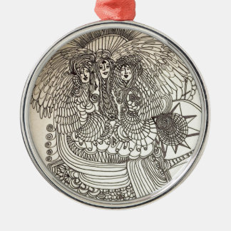 Das Norns Rundes Silberfarbenes Ornament
