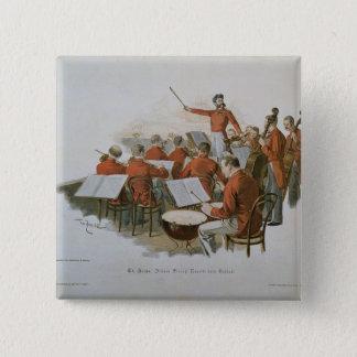 Das Orchester Johann Strauss an einem Quadratischer Button 5,1 Cm