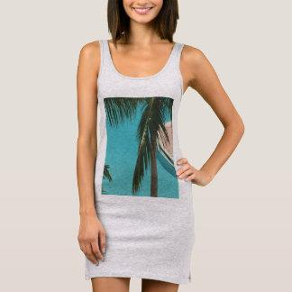 Das Palmen-Kleid Ärmelloses Kleid