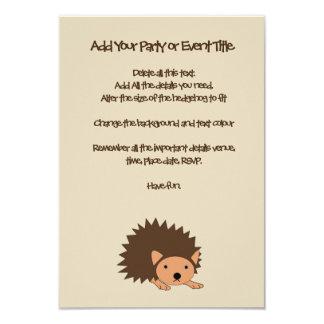 Das Party-oder das Baby-Dusche der Igels-Kinder Karte