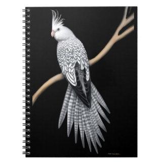 Das Perlegescheckte Cockatiel-Papageien-Notizbuch Notizblock