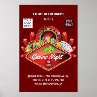 Das personalisierte Verein-Kasino-NachtParty Poster
