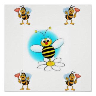das Plakat der schwarze gelbe Kinder der Biene Poster
