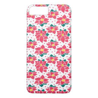 Das Poinsettia-Muster iPhone 8 Plus/7 Plus Hülle