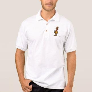 Das Polo-Shirt Hündchen-Toon-Männer Polo Shirt
