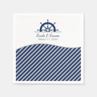 Das Rad-Hochzeit des Seeschiffs Papierservietten