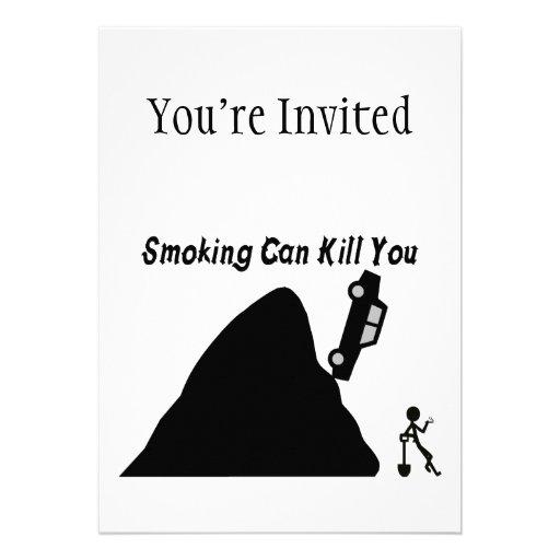 Das Rauchen kann Sie töten Personalisierte Einladung