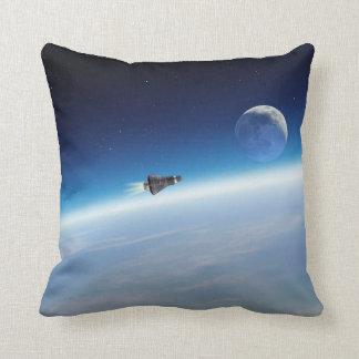 Das Rennen zum Mond! Kissen