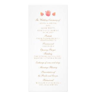 Das rosa Tulpe-Hochzeits-Programm Werbekarte