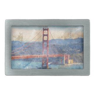 Das San Francisco Golden gate bridge in Rechteckige Gürtelschnalle