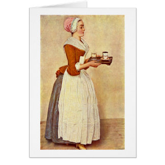Das Schokoladen-Mädchen durch Jean-Etienne Liotard Karte