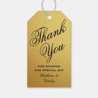 Das schwarze personalisierte Gold danken Ihnen Geschenkanhänger