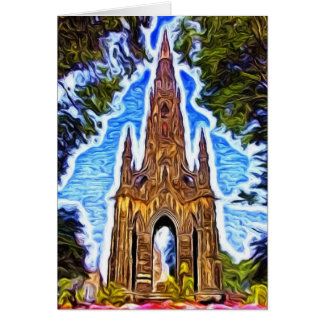 Das Scott-Monument, Edinburgh, Schottland Karte
