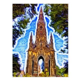 Das Scott-Monument, Edinburgh, Schottland Postkarte