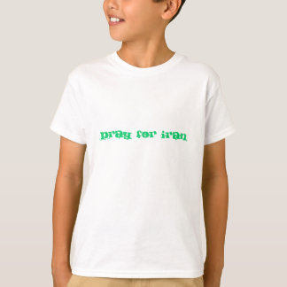 Das Shirt des Kindes: beten Sie für den Iran