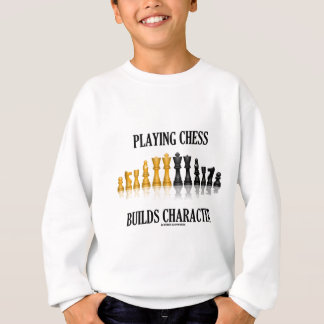 Das Spielen des Schachs errichtet Charakter Sweatshirt