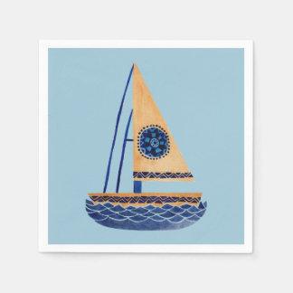 Das Stammes- Segelboot Serviette