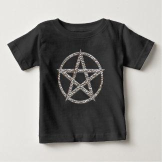 Das T-Shirt der Pentagram gehämmerte Chrom-Kinder