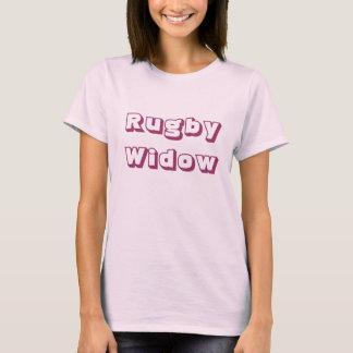 Das T-Shirt der Rugby-Witwen-mittleren Frauen