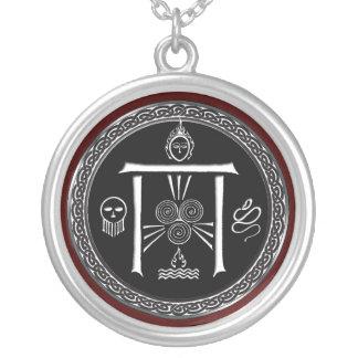 Das Tor-Talisman des Druiden Versilberte Kette