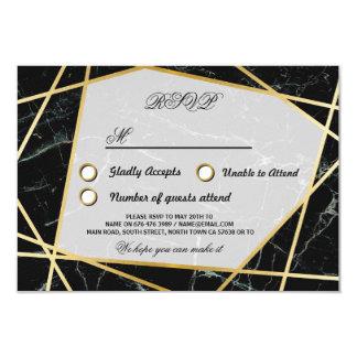 Das UAWG, das schwarze Marmorgoldkarten Wedding 8,9 X 12,7 Cm Einladungskarte