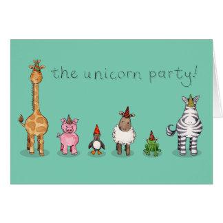 Das unicorn-Party Karte