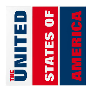 Das USA rot u. blau Triptychon
