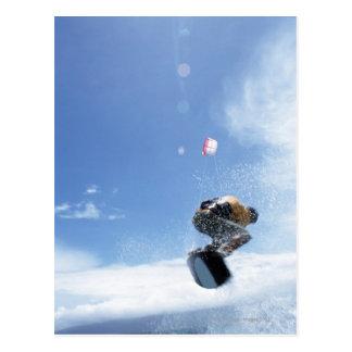 Das Wakeboarder-Springen Postkarte