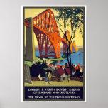 Das weiter Brücken-Vintage Reise-Plakat