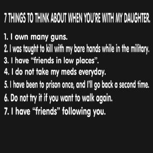 Regeln fГјr die Datierung meiner Tochter Shirt kaufen