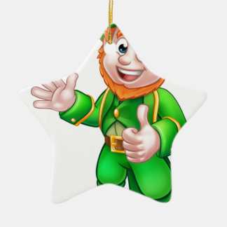 Daumen Up Charakter Kobold-St. Patricks Tages Keramik Stern-Ornament
