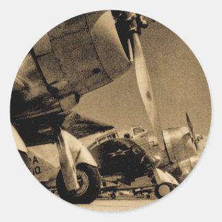 Dauntless Bomber-Flugzeuge Weltkrieg-Douglas SBD Runder Aufkleber