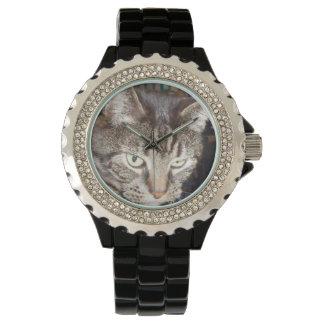 Daves, der Sie Rhinestone-schwarze Email-Uhr Armbanduhr