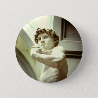David - das ewige Bild von Florenz Runder Button 5,1 Cm