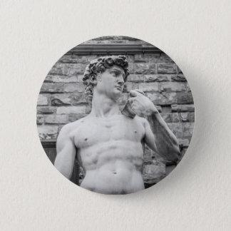 David (Michelangelo) Runder Button 5,1 Cm