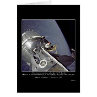 """David R. Scott Auftrag """"Spinne"""" - Apollo 9 Karte"""