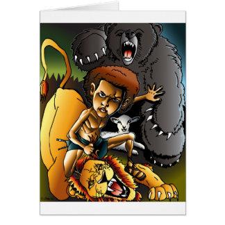 David und der Löwe Karte
