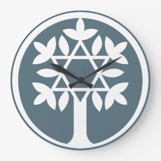 Davidsstern - Baum der Leben-Wand-Uhr Große Wanduhr