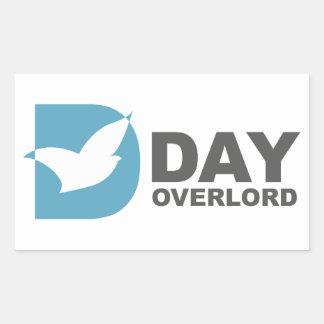 DDay-Overlord Internet Rechteckiger Aufkleber
